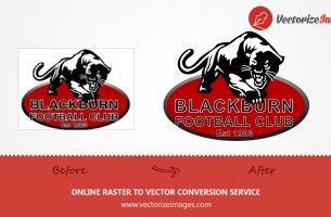 BLACKBURN LOGO VECTORIZATION