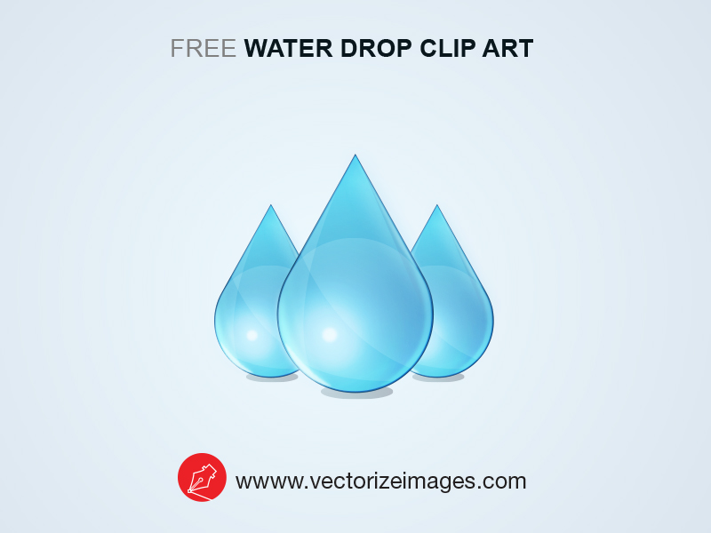 free water drop clip art