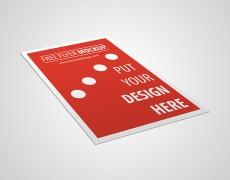 Free Minimalistic Flyer Mockup