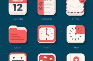 21 Flat iOs Icon Set
