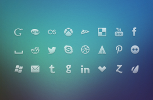 Free social media mini icons