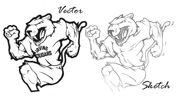 convert sketch logo to vector