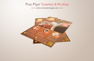 Free realistic flyer mockup
