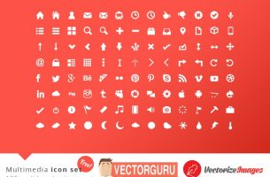 Free vector multimedia icon set