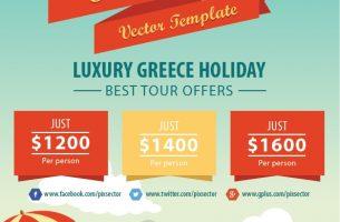 Summer holiday travel flyer
