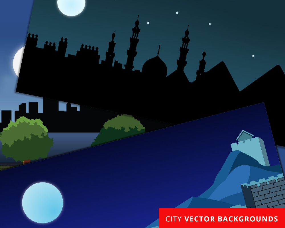 Free Vector City Silhouettes