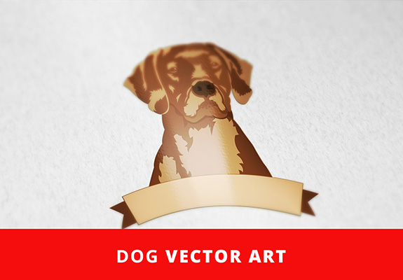 free dog vector art