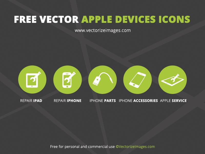 Free Minimal Apple Device Icons