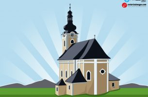 Church illustration free vector