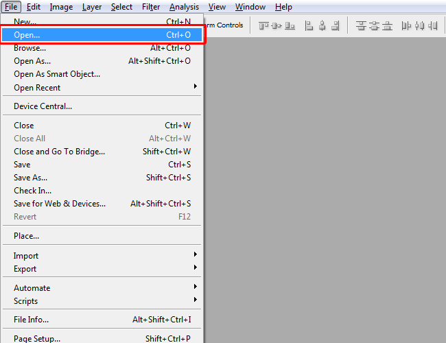How to Open Vectors in Photoshop step 01