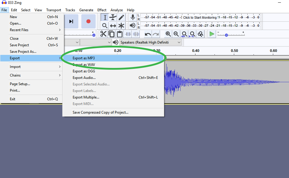 How to digitize audio step 4
