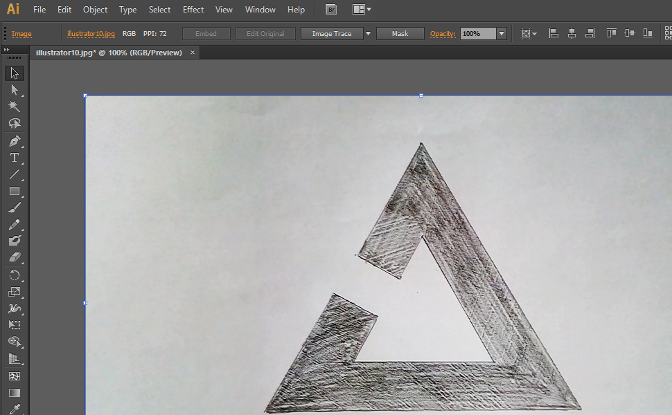 How to digitize a drawing in Illustrator step 10