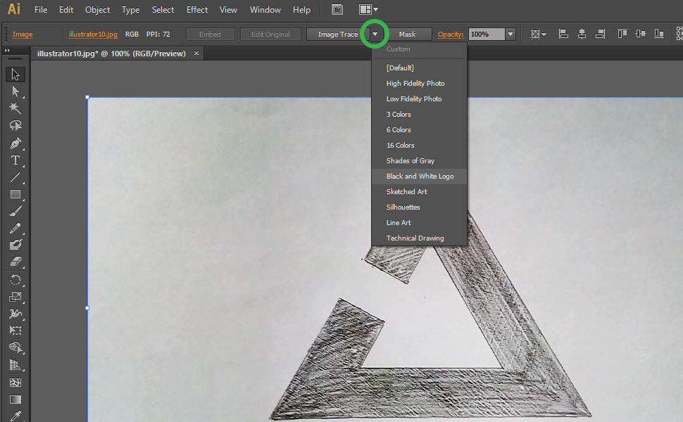 How to digitize a drawing in Illustrator step 11