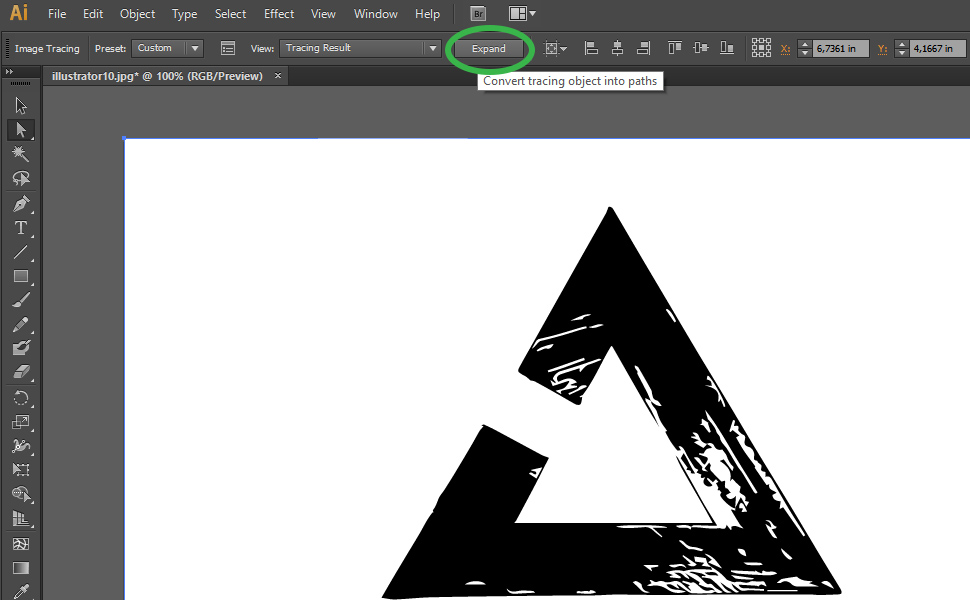 How to digitize a drawing in Illustrator step 15