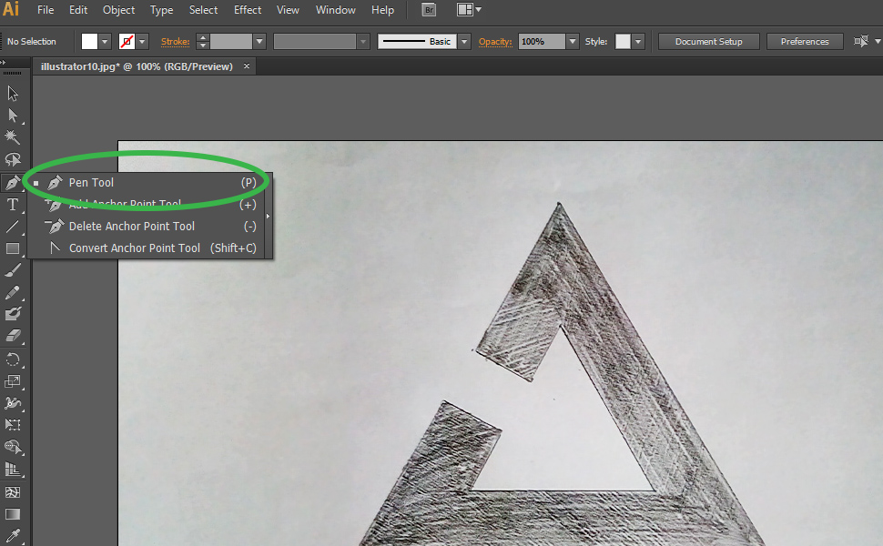 How to digitize a drawing in Illustrator step 3