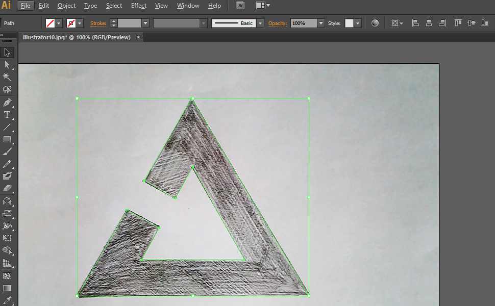 How to digitize a drawing in Illustrator step 4