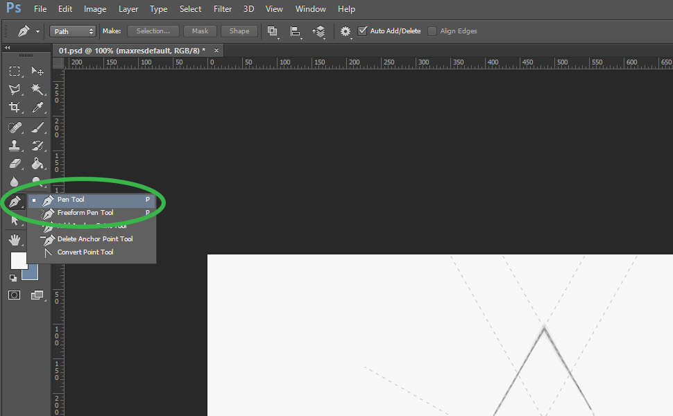 How to digitize an image in Photoshop step 3
