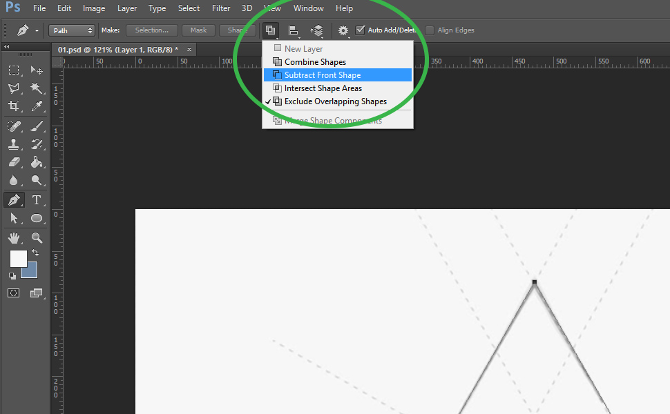 How to digitize an image in Photoshop step 5