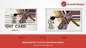 vectorize postage stamp